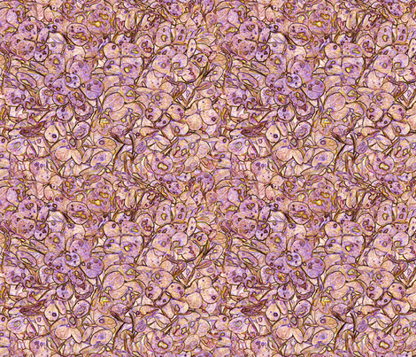 """Hydrangea Peach Lilac"" fabric by jeanfogelberg on Spoonflower - custom fabric"
