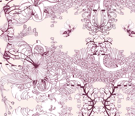 #EROS Pattern - 2.  fabric by noumeda_carbone on Spoonflower - custom fabric