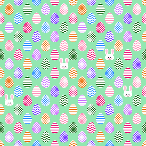 Tiny Eggs and Bunnies fabric by shala on Spoonflower - custom fabric