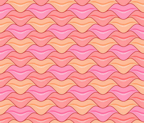lips 3 - valentine fabric by sef on Spoonflower - custom fabric