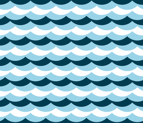scallop wave zigzags : sailing fabric by sef on Spoonflower - custom fabric