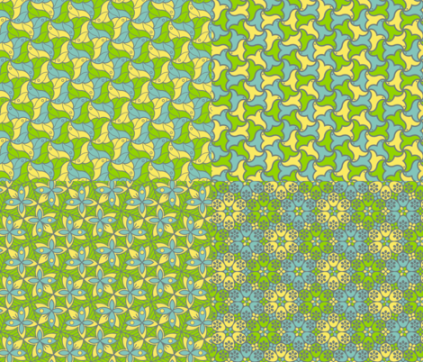 flights of fancy palette coordinates fabric by sef on Spoonflower - custom fabric