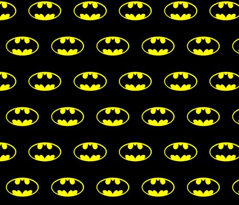 DC Comic Batman Logo fabric by nanner_lee on Spoonflower - custom fabric