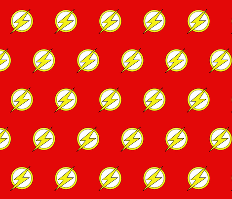 DC Comic The Flash Logo fabric by nanner_lee on Spoonflower - custom fabric