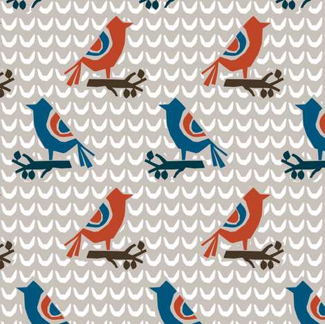 BIRDIE BIRDIE fabric by gsonge on Spoonflower - custom fabric