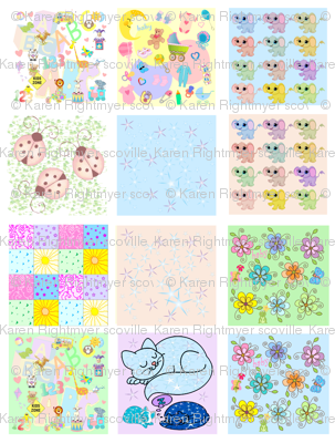 baby quilt swatches - 12 designs