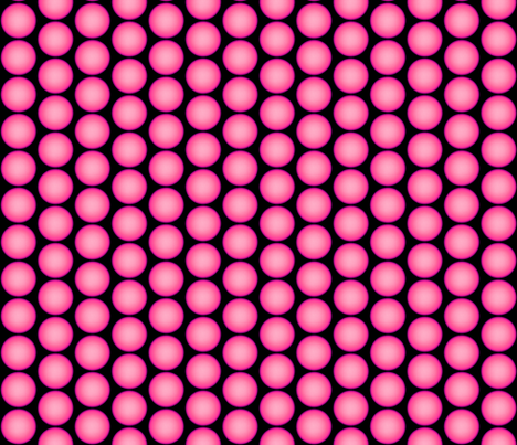 Pink Orbs on Black fabric by whimzwhirled on Spoonflower - custom fabric