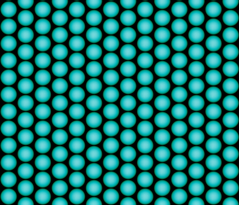 Teal Orbs On Black fabric by whimzwhirled on Spoonflower - custom fabric
