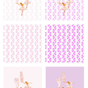 fairy ballerina quilt swatches - 6 designs