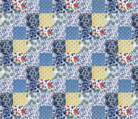 Delft Quilt fabric by ragan on Spoonflower - custom fabric