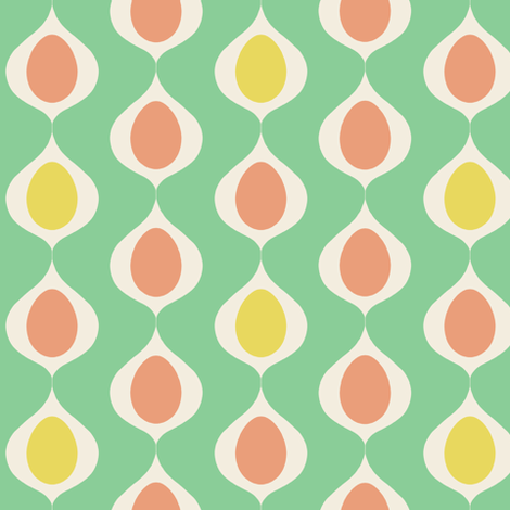 Mid-Century Easter Eggs fabric by molipop on Spoonflower - custom fabric