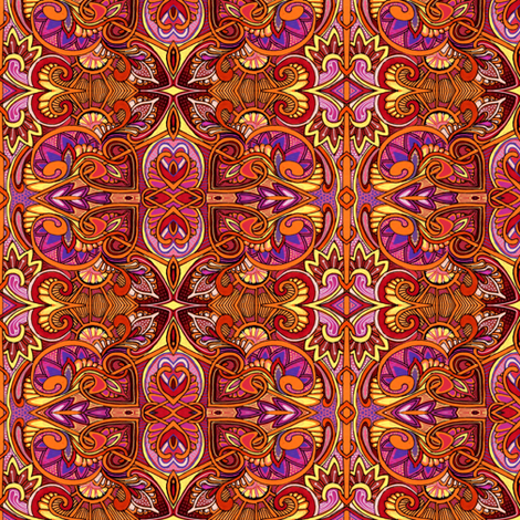 Under the Relentless Summer Sun fabric by edsel2084 on Spoonflower - custom fabric