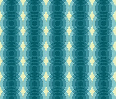 Circles-Blue green and eggshell