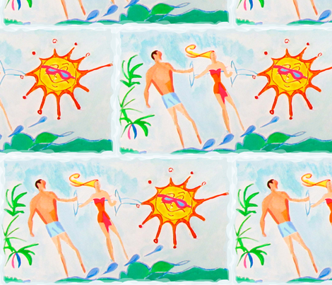Sunshine Funshine! fabric by bettieblue_designs on Spoonflower - custom fabric