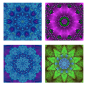 kaleidoscope quilt swatches - 8 designs