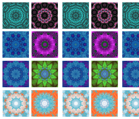 kaleidoscope quilt swatches - 8 designs fabric by krs_expressions on Spoonflower - custom fabric
