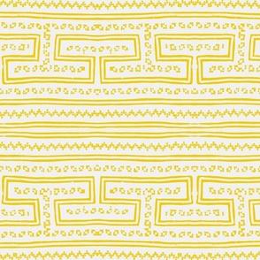 Hmong pattern yellow