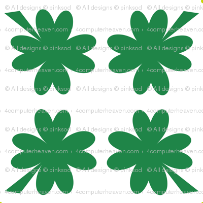 Shamrocks White! - Luck Be With You - © PinkSodaPop 4ComputerHeaven.com