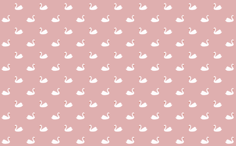 swan pink fabric by myracle on Spoonflower - custom fabric