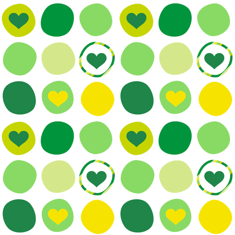Blarney Dots O' Love! - Luck Be With You - © PinkSodaPop 4ComputerHeaven.com fabric by pinksodapop on Spoonflower - custom fabric