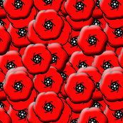 Beveled Poppies