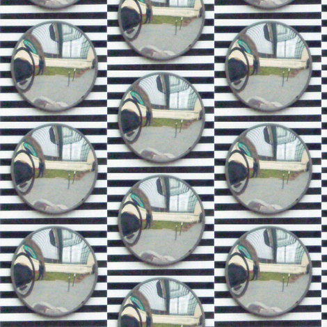 Traffic Mirror fabric by susaninparis on Spoonflower - custom fabric