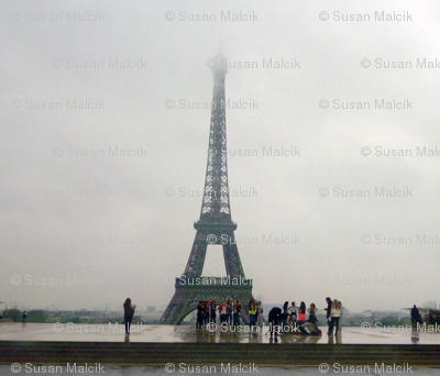 Eiffel Tower in Morning Fog
