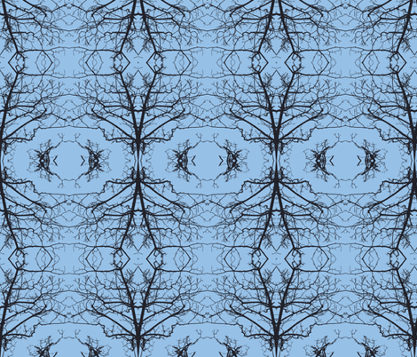 Tree Buds Against Blue Sky fabric by susaninparis on Spoonflower - custom fabric