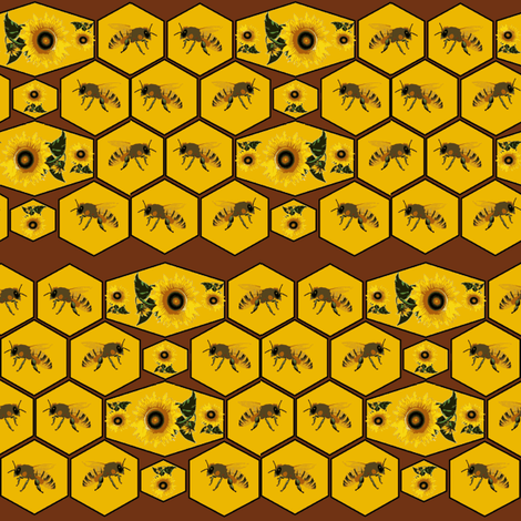 Honeycomb fabric by ravynscache on Spoonflower - custom fabric