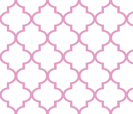 Large Pink Quatrefoil fabric by sparrowsong on Spoonflower - custom fabric