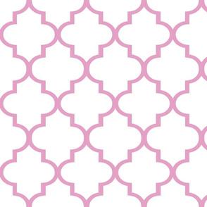 Large Pink Quatrefoil