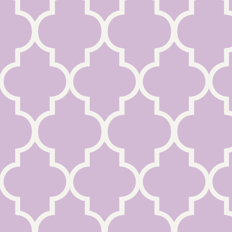 Lavender Quatrefoil  fabric by sparrowsong on Spoonflower - custom fabric