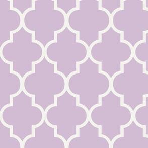 Lavender Quatrefoil