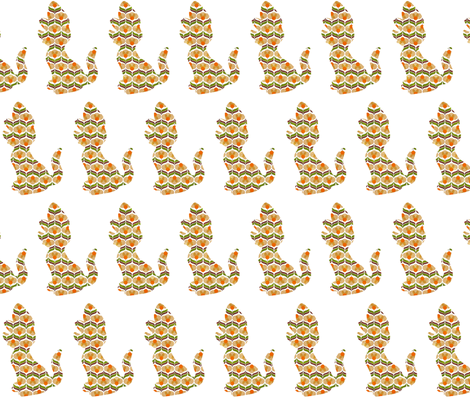 Fox pattern fabric by juffrouw_sanseveria on Spoonflower - custom fabric