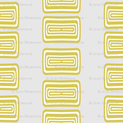 Modern Lozenge Gray and Gold Coordinate