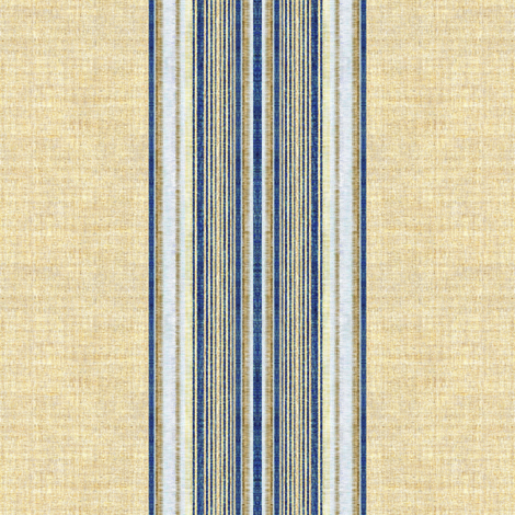 Ticking Stripe Grain Sack blue and linen wide stripe fabric by joanmclemore on Spoonflower - custom fabric