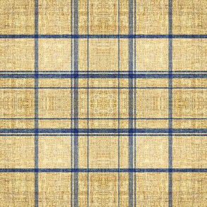 Linen Flax plaid