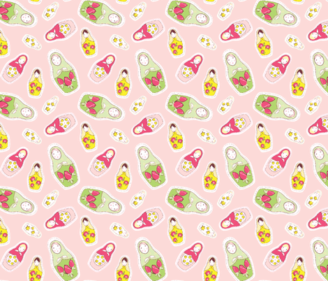 Russian_Dolls fabric by neverwhere on Spoonflower - custom fabric