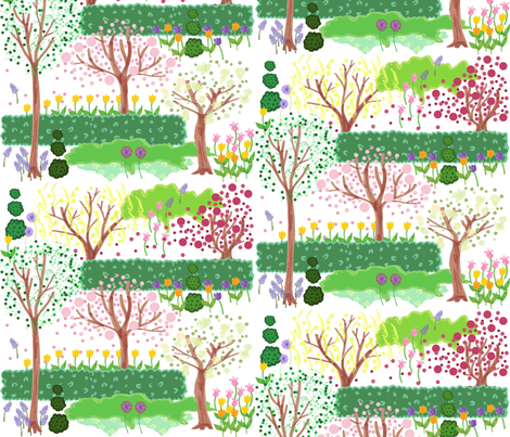 Spring Garden fabric by graceful on Spoonflower - custom fabric
