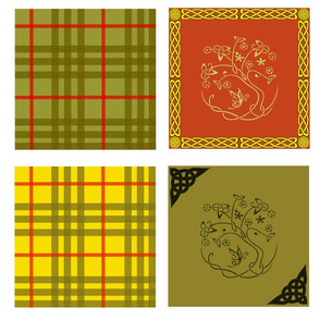 celtic quilt swatches - 8 designs
