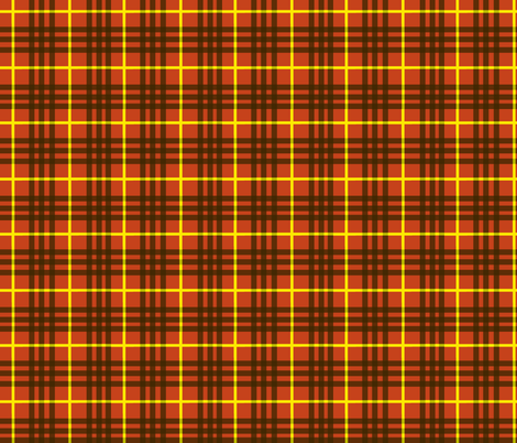 celtic tomato red plaid fabric by krs_expressions on Spoonflower - custom fabric