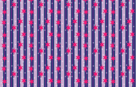 Starry Stripe fabric by makersway on Spoonflower - custom fabric