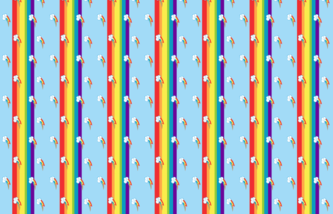 MLP Rainbow Dash Stripe fabric by makersway on Spoonflower - custom fabric
