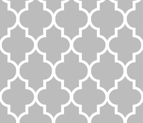 Large Scale Cashmere Quatrefoil fabric by sparrowsong on Spoonflower - custom fabric