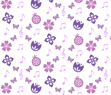 springtime music plain fabric by ronnyjohnson on Spoonflower - custom fabric