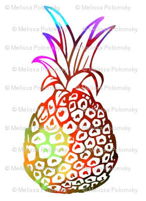 Pineapple Party in Funky Tie Dye