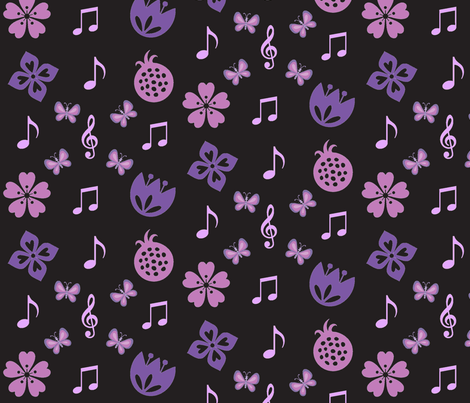 springtime music fabric by ronnyjohnson on Spoonflower - custom fabric