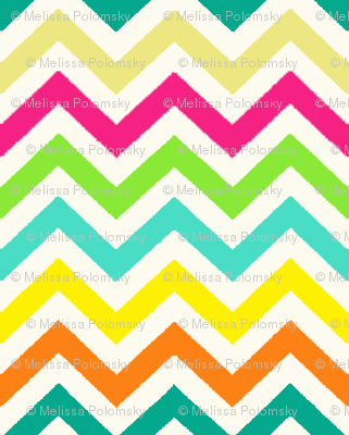 Tiny Chevron / Diamond / Tribal in Summer Bright