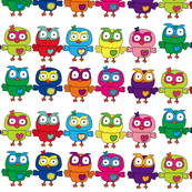 Rainbow Multicolor Owls