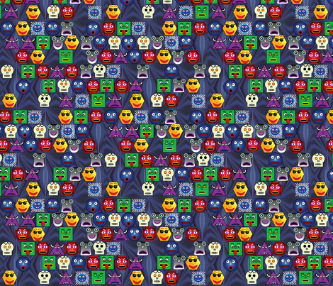 Blue Snood fabric by pixeldust on Spoonflower - custom fabric
